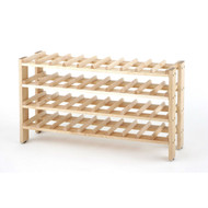 4-Shelf 40-Bottle Wine Rack in Solid Birchwood SCWR5914516-4