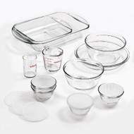 15-Piece Glass Bakeware Set with Food Storage Bowls and Lids AHFPS519815