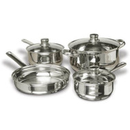 7-Piece Stainless Steel Cookware Set with Tempered Glass Lids CS7PS299