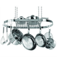 Stainless Steel Oval Pot Rack for Kitchen Cookware Storage SPR57916