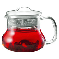 22-ounce Glass Kettle Tea Pot Strainer with Stainless Steel Lid TSP22OZ26