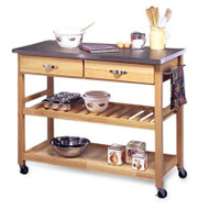 Stainless Steel Top Kitchen Cart Utility Table with Locking Wheels HSMK257153-3