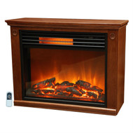 Infrared Electric Fireplace Space Heater 1500-watt Medium Oak Finish LPMOH1761