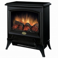 Compact Stove Style Electric Fireplace Space Heater in Black DCESBSH941