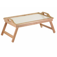 Breakfast in Bed Tray Table with Handles and Foldable Legs W98159651