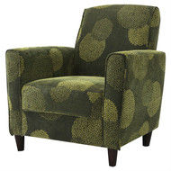 Contemporary Green Fabric Upholstered Flared Arm Accent Chair with Wood Legs GFBAC518947