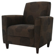 Modern Brown Flared Arm Chair in Premium Upholstery Grade Fabric PAC618745443