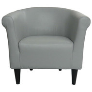 Gray Faux Leather Upholstered Accent Chair Club Chair - Made in USA GFLUC841984842
