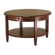 Circular Round Coffee Table in Antique Walnut Finish AWWCRCT129