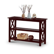 Cappuccino Wood Sofa Table Bookshelf COSTC11161