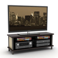 white tv stand entertainment center holds up to 62 inch tv. Black Bedroom Furniture Sets. Home Design Ideas
