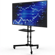 Adjustable Height Mobile TV Cart TV Stand for up to 65-inch TV LUMTVC581981
