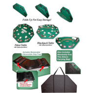 Poker & Blackjack High Quality Folding Table Top w/ Case OS08569856