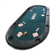 Folding Texas Hold'em Poker Table Top with Cup Holders with Carry Bag FPTWCH9782