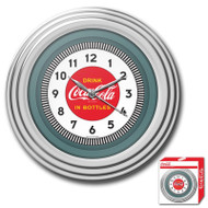 30s Style Chrome Coca-Cola Wall Clock 1930SCCWC1753