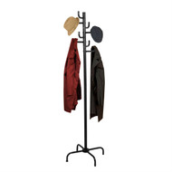 Black Metal Coat Rack Entry Hall Tree Hat Rack HBCR35
