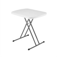 Indoor / Outdoor Folding Table with White Granite Color Plastic Top LFT3565186