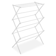White Folding Laundry Dryer Clothes Drying Rack - Sturdy Steel Design WFCDR23971