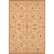 5'10 x 9'2 Indoor Outdoor Area Rug with Floret Floral Pattern Terracotta CRVT1395125