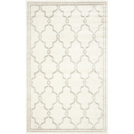 8' x 10' Indoor/Outdoor Area Rug in Ivory and Light Gray HIDYU81515