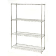 48-inch Wide 4-Shelf Metal Storage Shelving Unit - 72-inch High SC4SW9697