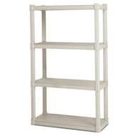 Heavy Duty Plastic 4-Shelf Storage System Shelves S4SU2997