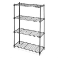 4-Shelf Black Metal Wire Shelving Unit - Each Shelf Holds up to 350 lbs WS4TSU56981