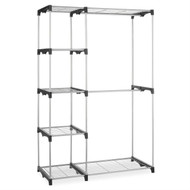 Freestanding Closet Organizer Garment Rack Storage Unit with Hanging Rods DRC476915