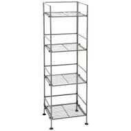 4-Shelf Iron Tower Storage Shelves - Great for Kitchen Office Garage SC4TS39M