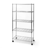 5-Shelf Storage Shelving Unit with Removable Locking Casters Wheels SCSU5991
