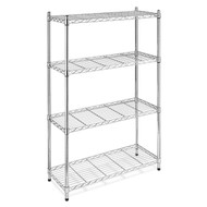 4-Shelf Steel Storage Shelves in Chrome WS4TSY6824