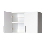 White Wall Cabinet with 2 Doors and Adjustable Shelf PWC1561818