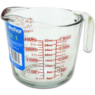 Glass 32 Oz Measuring Cup, Blue Label 55178OL1