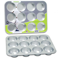 "13X9.5"" Aluminum Muffin Pan, 12 Cup, Professional Bakeware"