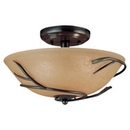 Round 12-inch Semi Flush Mount Ceiling Light with Twig Accent SLMP58101