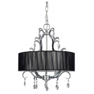 4-Light Crystal Chandelier with Black Drum Shade C4LC135991