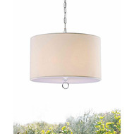 Beige Fabric 3-light Chrome Chandelier BF3LC77991