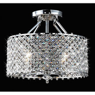 Chrome & Crystal 4 Light Round Ceiling Chandelier CC4RIDJD1699
