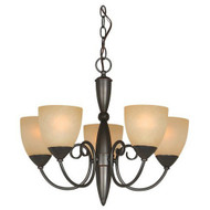 Classic Style 5-Light Bronze Chandelier 21-inch x 18-inch HV21X18C7542