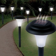 Set of 16 - Solar Powered LED Accent Lights GCSLED36581