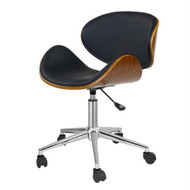 Black Mid-Century Modern Classic Mid-Back Office Chair RMBOFC519812