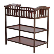 Cherry Finish Changing Table with 2 Shelves and Safety Rail CDOM8499
