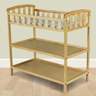 Natural Finish Wood Baby Furniture Changing Table with Safety Rail NDOMCT6901
