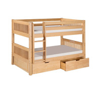 Twin over Twin Bunk Bed with Drawers in Natural Wood Finish TNVF518915