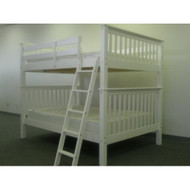 Solid Wood Mission Style Full over Full Bunk Bed in White BFMS538018