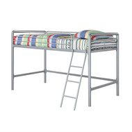 Twin size Bunk Bed Style Metal Loft Bed in Silver DJLB149