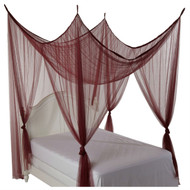 4-Post Bed Canopy in Burgundy - Fits all size Beds H4PBC3238