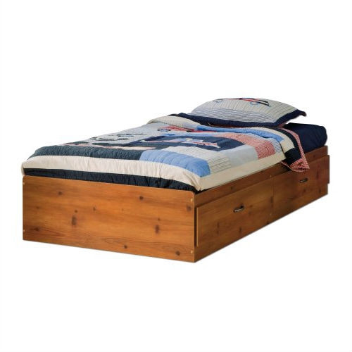 twin size platform bed daybed with storage drawers in pine wood finish. Black Bedroom Furniture Sets. Home Design Ideas