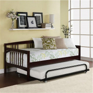 Twin size Day Bed in Espresso Wood Finish - Trundle Not Included EDTBDE51895