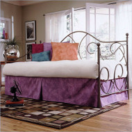 Twin size Metal Day Bed in Flint Finish with Link Spring - No Trundle CDNT15896188